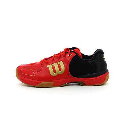 Wilson Vertex, Baskets Basses Mixte Adulte Multicolore - Rojo / Negro / Dorado
