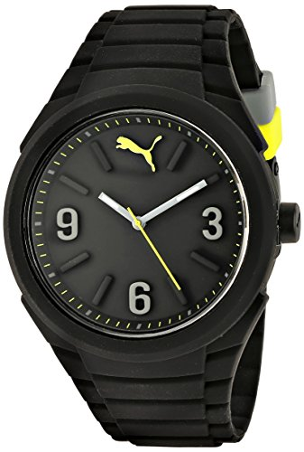 PUMA Unisex PU103592001 Gummy Analog Display Analog Quartz Black Montre