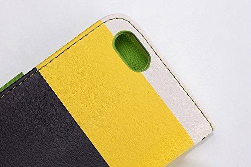 iPhone 7 Cover, elecfan ® Leichtgewicht Book Stil Flip PU Leder Hülle Tasche Wasserdicht Case Smart Cover mit Ständer / Kartenfächer Anti Kratzer Schutzhülle für iPhone 7 A02