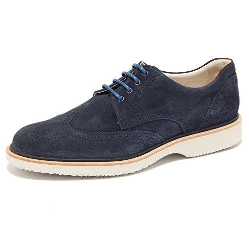 3818Q scarpa uomo HOGAN ROUTE DERBY blu shoe suede blue men [6]