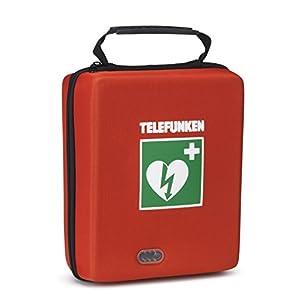 Telefunken Defibrillator FA1 mit vollautomatischer Schockauslösung, Vollausstattung und HLW – Unterstützung