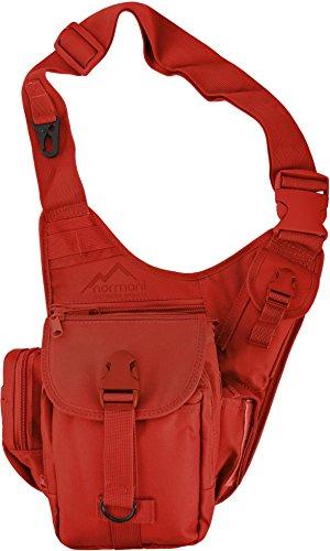 Schultertasche / Multifunktions Umhängetasche für Damen und Herren / Military Tactical Rucksack/ Brusttasche / Crossbag mit einem Gurt / Sling Bag / einseitiger Rucksack für Radfahren Wandern Camping Freizeit Uni Schule Farbe Rot
