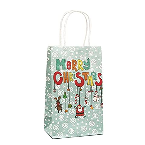 VOBAGA Set of 10 Paper Gift Bags Christmas