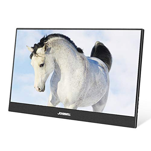 JOHNWILL 13,3 Zoll Type-c Tragbarer monitore, Ultra HD 1920 x 1080 IPS-LCD/LED-Anzeige, HDMI/Zwei Typ C (USB C) Zwei USB-Schnittstellen,Spielmonitor (Lcd-monitor-anzeige)