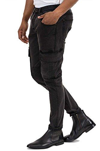 trueprodigy Casual Herren Marken Jeanshose mit Stretch, Hose cool und stylisch Denim vintage (destroyed & Slim Fit), Jeans für Männer in Farbe: Schwarz 6273102-2999 Black