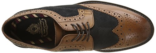 Base London - Conflict, Scarpe stringate Uomo Multicolore (Multicolore (Waxy/Suede Tan/Navy))