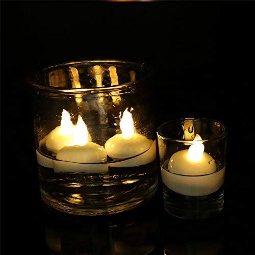Lavendel Kerze Zinn (LED Kerze wasserdicht, 12 LED Flammenlose Kerzen, Weihnachten, Elektrische Teelichter Kerzen für Halloween, Weihnachten, Party, Bar, Hochzeit 3.8 * 4.0 cm)