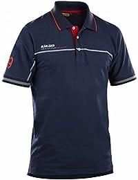 Blakläder 332710508956X XXL Größe 3X Große Marken Polo Shirt–Navy Blau/Rot
