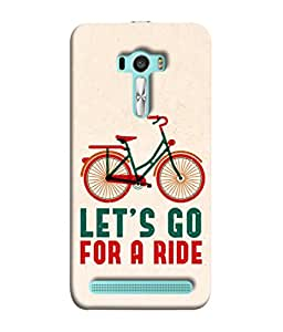 Asus Zenfone Selfie ZD551KL Back Cover Let'S Go For A Ride Bike Adventure Concept Design From FUSON