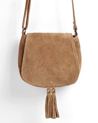 12b9930411add ... Ledertasche dunkel blau klein Lederhandtasche Umhängetasche Fransen  echt Leder Tasche Wildleder Handtasche Vintage Damen 5- ...