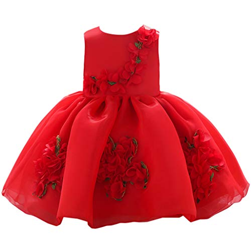 e Kleid Baby Mädchen Blumen Prinzessin Party Performance Formal Tutu Dress ()