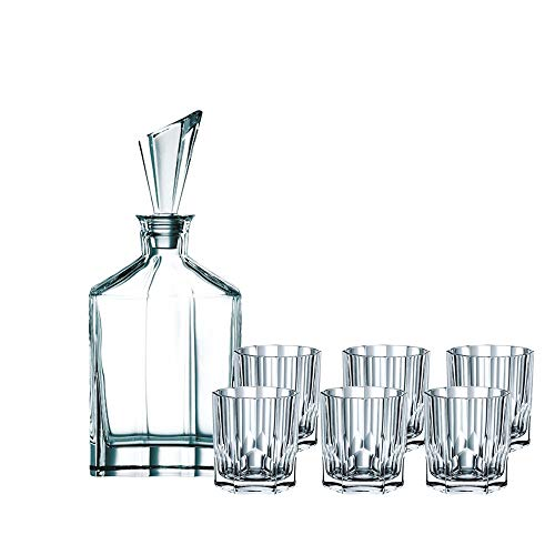 Spiegelau & Nachtmann  90025, 7-teiliges Whisky-Set, 1 Dekanter+ 6x Whisky-Becher, Aspen