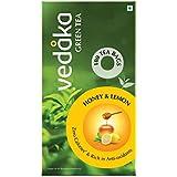 Amazon Brand – Vedaka Green Tea, Lemon and Honey, 100 Bags