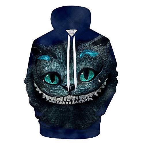 ie Lässige Pullover Unisex Bewegung Phantasie Kostüm Digitaldruck Cheshire cat XL ()