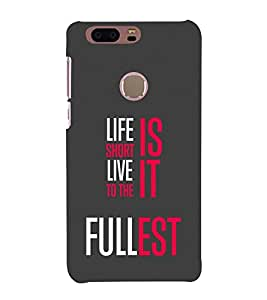 Life Quote 3D Hard Polycarbonate Designer Back Case Cover for Huawei Honor 8