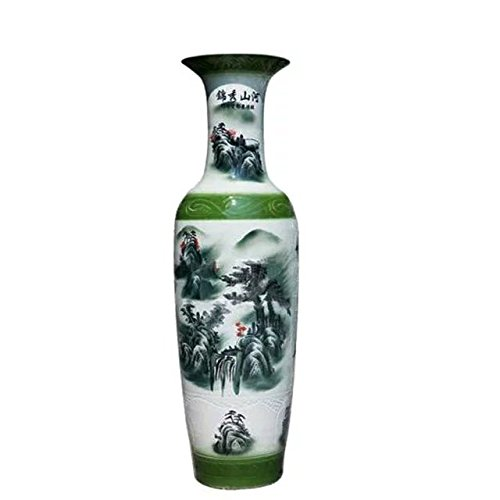 waist-drum-type-floor-vase-of-underglaze-teenchoy-and-white-glazed-porcelain-mountain-waterfall-wond