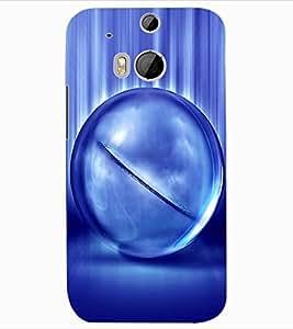 ColourCraft Digital Ball Design Back Case Cover for HTC ONE M8