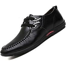Negocios Zapatos Hombres de cómodo Relajado Cabeza Suela Cable de Metal Resistente a la abrasión,
