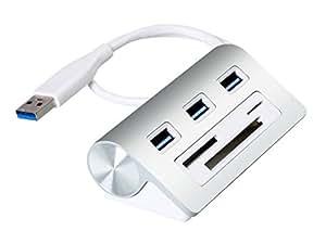 Cateck Bus USB 3.0Hub a 3porte con lettore di schede multi in 1Slot 3di combinazione