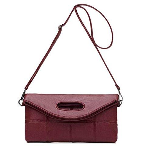 Frauen Tote Bag Schultertasche Mode Elegant Große Kapazität Tasche PU Leder Umhängetasche Damen Handtasche Damen Clutch Bag Red
