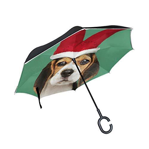Hengpai Paraguas invertido Jirafa diseño Animales