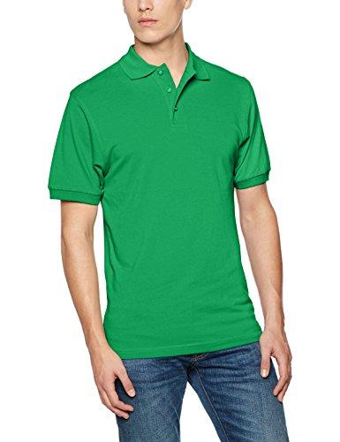 Classic Fit Polo T-shirt (James & Nicholson Herren Regular Fit Poloshirt Classic Polo JN070 FGR, Einfarbig, Gr. X-Large, Grün (Fern-Green))