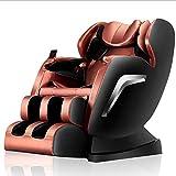 JAKROO 3D Massage-Sessel - Shiatsu Relaxation SPA Support Health Care Chair 9 Massageverfahren - Schwerelosigkeit, Nullwand, Magnetisch, Ionenlufterzeuger,Brown