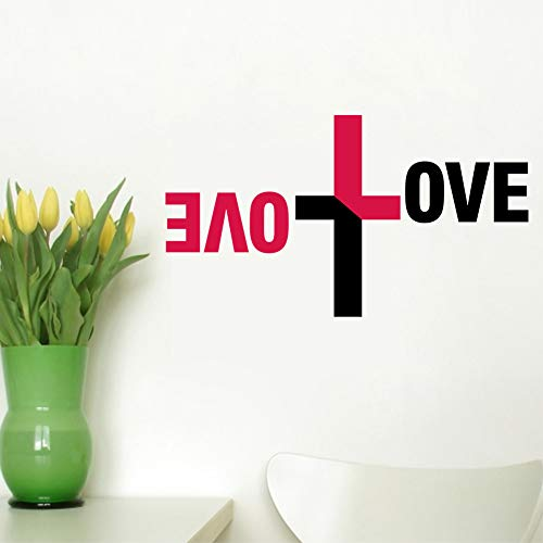 Bunte Liebe Gott Wand Vinyl Aufkleber Kreuz Wandtattoo Jesus Christus Psalm Beten Bibel Schlafzimmer Wandbild -