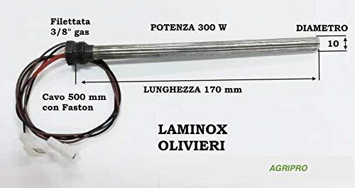 Zündkanal für Pelletofen Heizung 10 x 170 W300 Gewinde 3/8 Zoll -