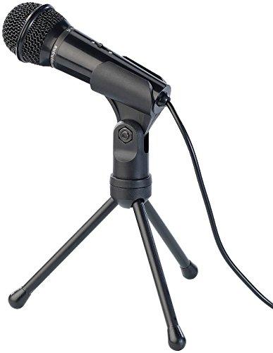 auvisio Mikro: Kondensator-Mikrofon mit Stativ für PC und Notebook, 3,5-mm-Klinke (Tischmikrofon) 3,5-mm-pc