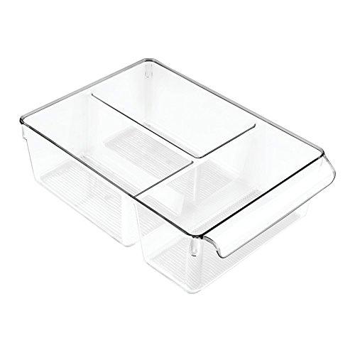 Groß Küche (InterDesign Linus Aufbewahrungsbox, großer Küchen Organizer aus Kunststoff mit drei Fächern, durchsichtig)