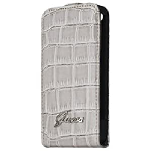 GUESS FLAPCASE CROCO/BEIGE Guess croco flap case design for iPhone 4/4S, Beige