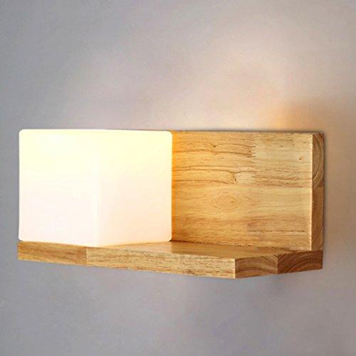 KangJ-Wall Lights KJZhu Massivholz-Wandleuchte, Innenwandlampe Regal Wandleuchte Hotel Wohnzimmer Nacht Korridor Schlafzimmer Studie E27 Schöne Lampen (Color : D) -