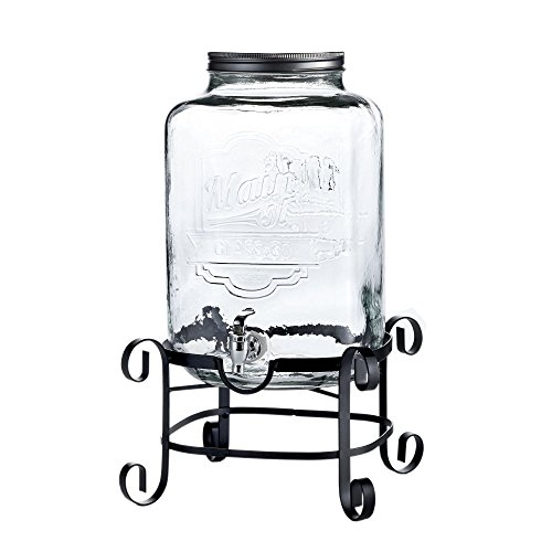 Jay Import 210263-GB Style Setter Main Street Beverage Dispenser with Stand, 3 Gallon by Jay Imports 3 Gallon Beverage Dispenser