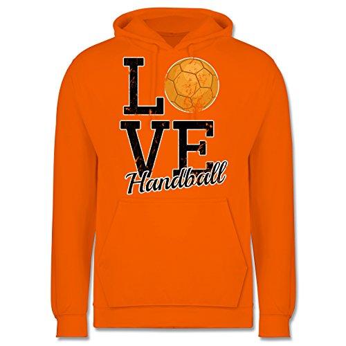 Handball - Love Handball - Männer Premium Kapuzenpullover / Hoodie Orange