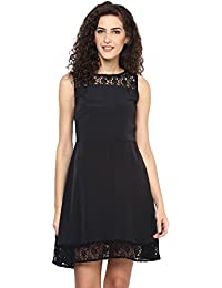 "Black Crape ""A"" Line Dress"