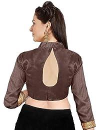 82436af08653d0 Women's Art Silk Readymade Partywear Saree Blouse Choli Mirchi Fashion Top