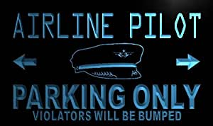 ADV PRO n099-b Airline Pilot Parking Only Neon Light Sign