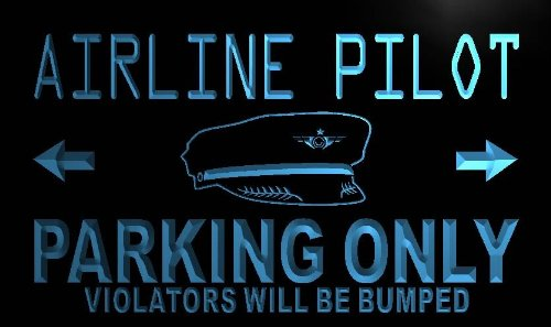 adv-pro-n099-b-airline-pilot-parking-only-neon-light-sign-barlicht-neonlicht-lichtwerbung
