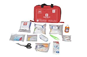 ST JOHNS FIRST AID First Aid Family Kit Small Nylon 6 Pocket Bag -79 Components