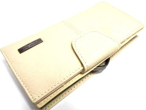 - 41zmX3RfZnL - Ladies Designer Leather Purse In 6 Colours By Lorenz 19 – Cream