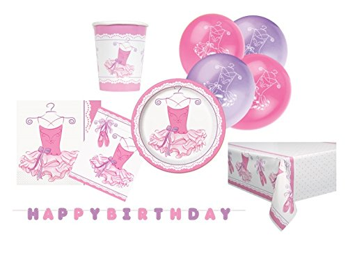 Supplies Kit für 8 (Party Supplies-rosa)