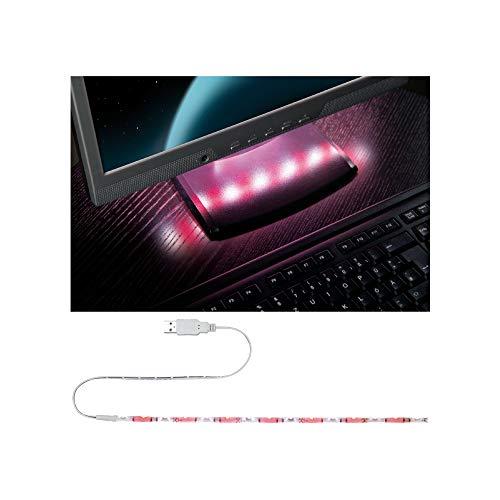 Paulmann 704.57 Function USB-Strip 30cm Rot/Weiß 1,5W 5V Weiß Metall/Kunststoff 70457 Tastaturbeleuchtung Lichtband Lichtstreifen