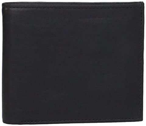 Allen Edmonds Men's Billfold Burnished Leather, Black/Royal, One