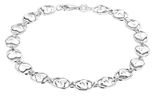 Tuscany Silver Sterling Silver Heart and Oval Link Bracelet of 19cm/7.5""