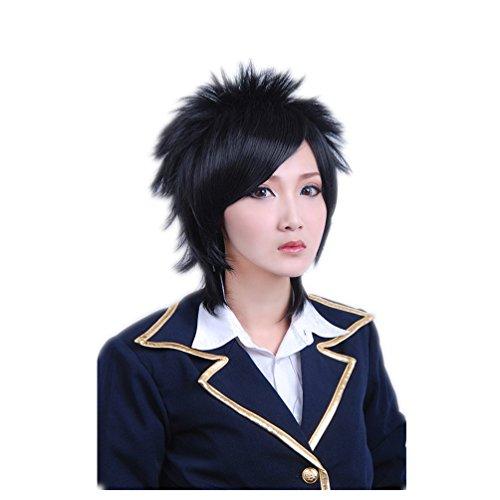 tueme Per¨¹cke 30cm The Lark Hijikata Toshiro Aph Naruto Sasuke Schwarz Anti Alice Fasching Karneval Haar (Naruto Cosplay Kostüme Uk)