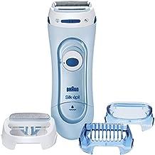 Braun Silk-épil Lady Shaver 5160 - Afeitadora eléctrica con función seco y húmedo, sin cable, con 3 accesorios, 1 unidad