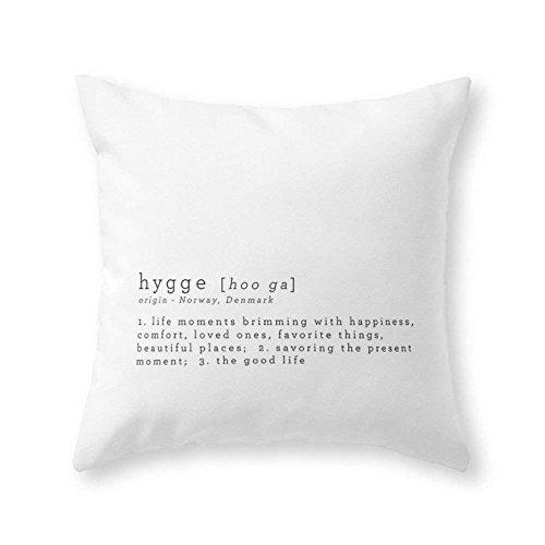 Bgejkos Stolze Kleidung DIE BEDEUTUNG des Hygge Wurfs-Kissen-KissenbezugCover mit Kissenbezug 18