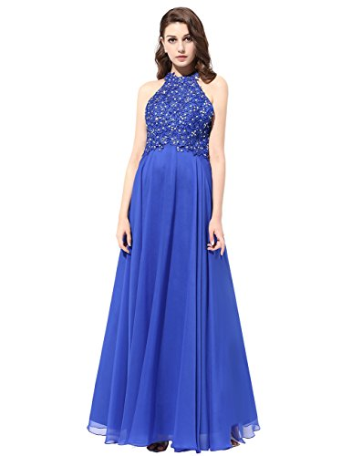 Dresstells® Long Prom Dress Chiffon Bridesmaid Dress Applique Evening Party Gown