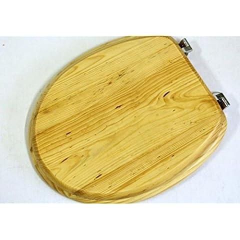Sedile WC in legno di pino massiccio,